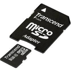 Kartica microSDHC Transcend, 8GB, razred 4 + SD-adapter TS8GUSDHC4