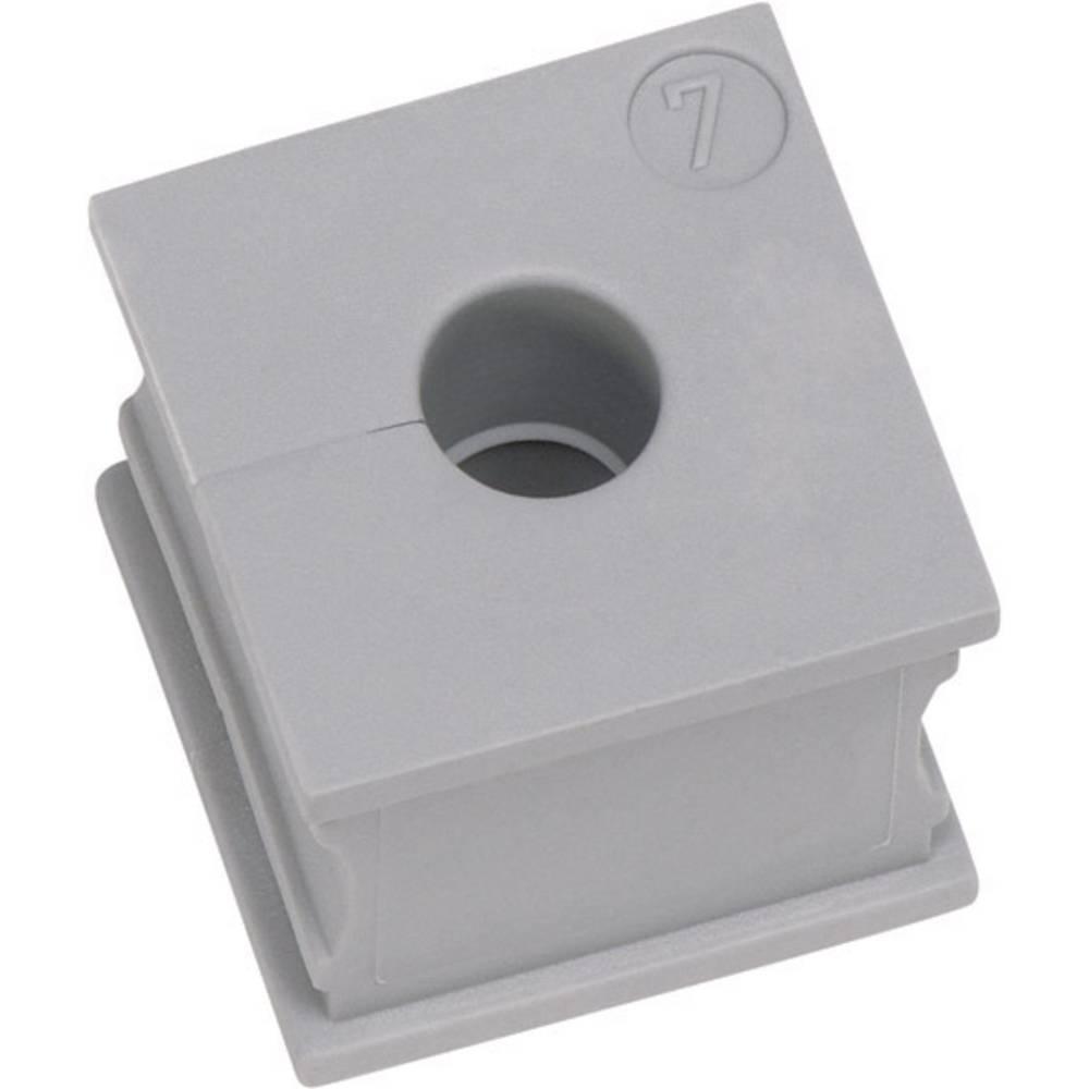 Icotek Kabelska kapa KT majhna, KT 11 za kabel- 11 - 12 mm, elastomer, siva