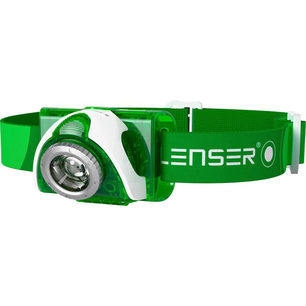 LED naglavna svjetiljka Ledlenser SEO 3 na baterije 96 g zelena 6103