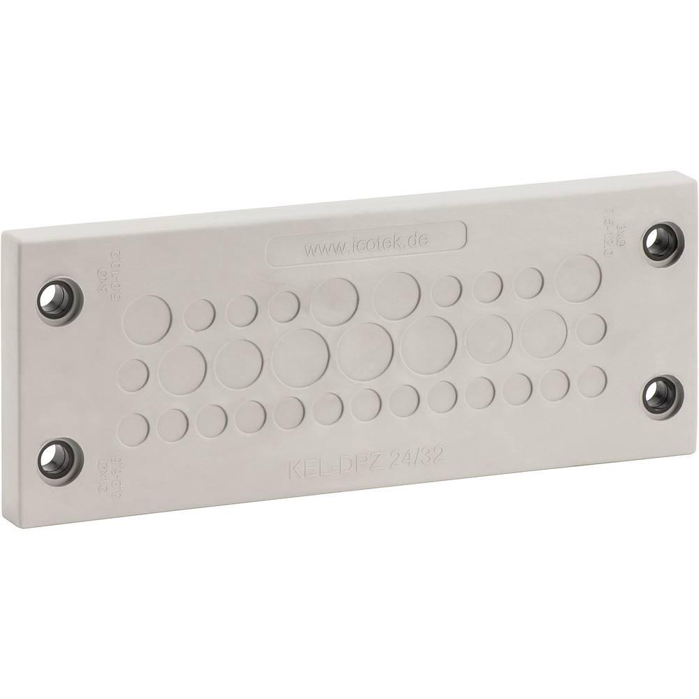 Kabelska uvodna plošča premer sponke (maks.) 10.2 mm poliamid,, elastomer sive barve, črne barve Icotek KEL-DPZ 24/32 1 kos