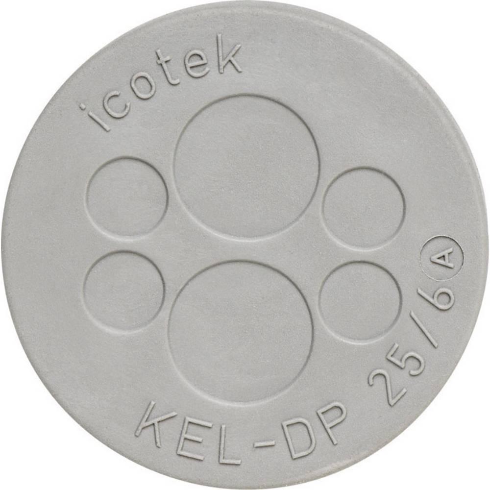Kabelska uvodna plošča premer sponke (maks.) 9.4 mm, elastomer sive barve Icotek KEL-DP 32/10 1 kos