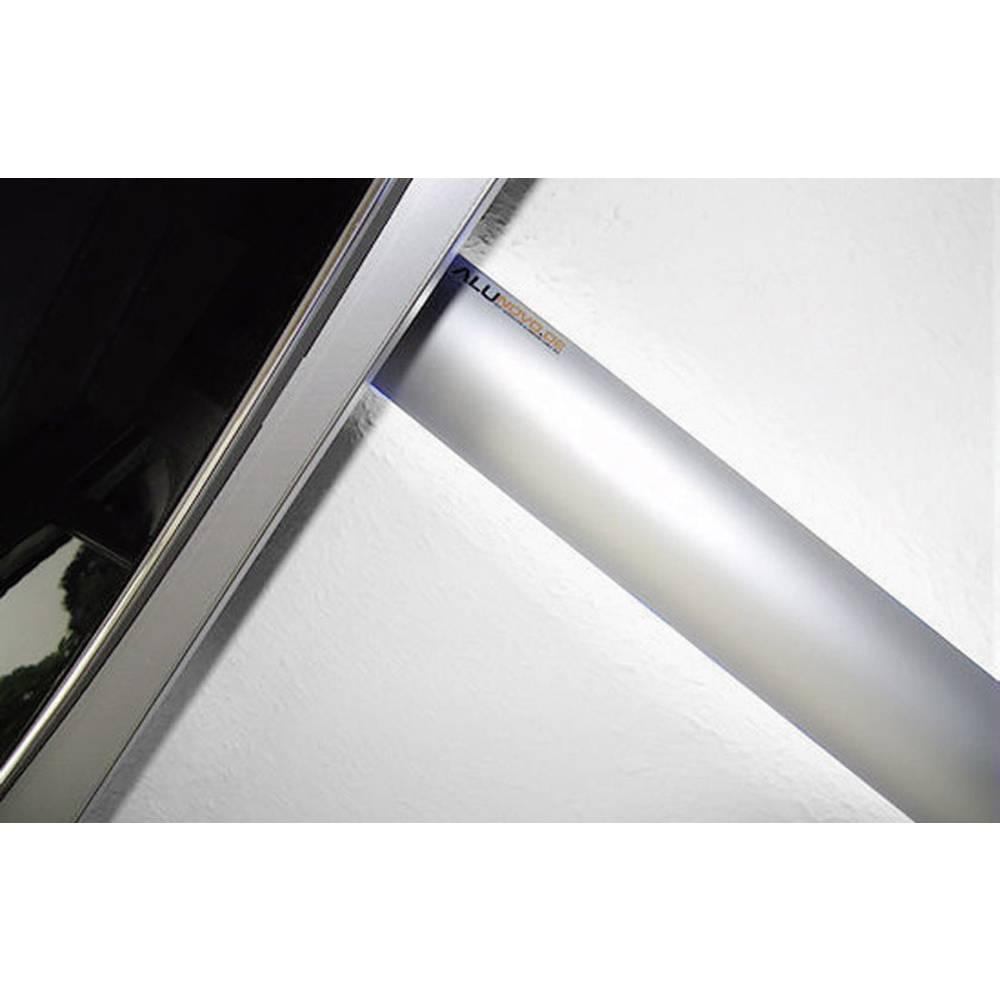 Kabelski kanal, (D x Š x V) 500 x 80 x 20 mm, srebrn (mat, eloksiran), vsebina: 1 kos AL90-050 Alunovo