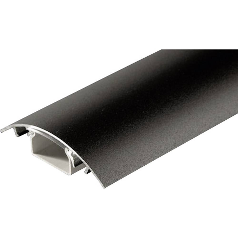 Kabelski kanal, (D x Š x V) 500 x 80 x 20 mm, črne barve (mat), vsebina: 1 kos SM90-050 Alunovo