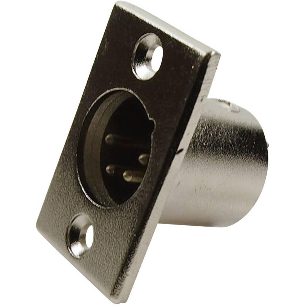 XLR-vtični konektor, prirobni vtič, ravni kontakti, število polov: 4 srebrne barve Cliff FC6125 1 kos