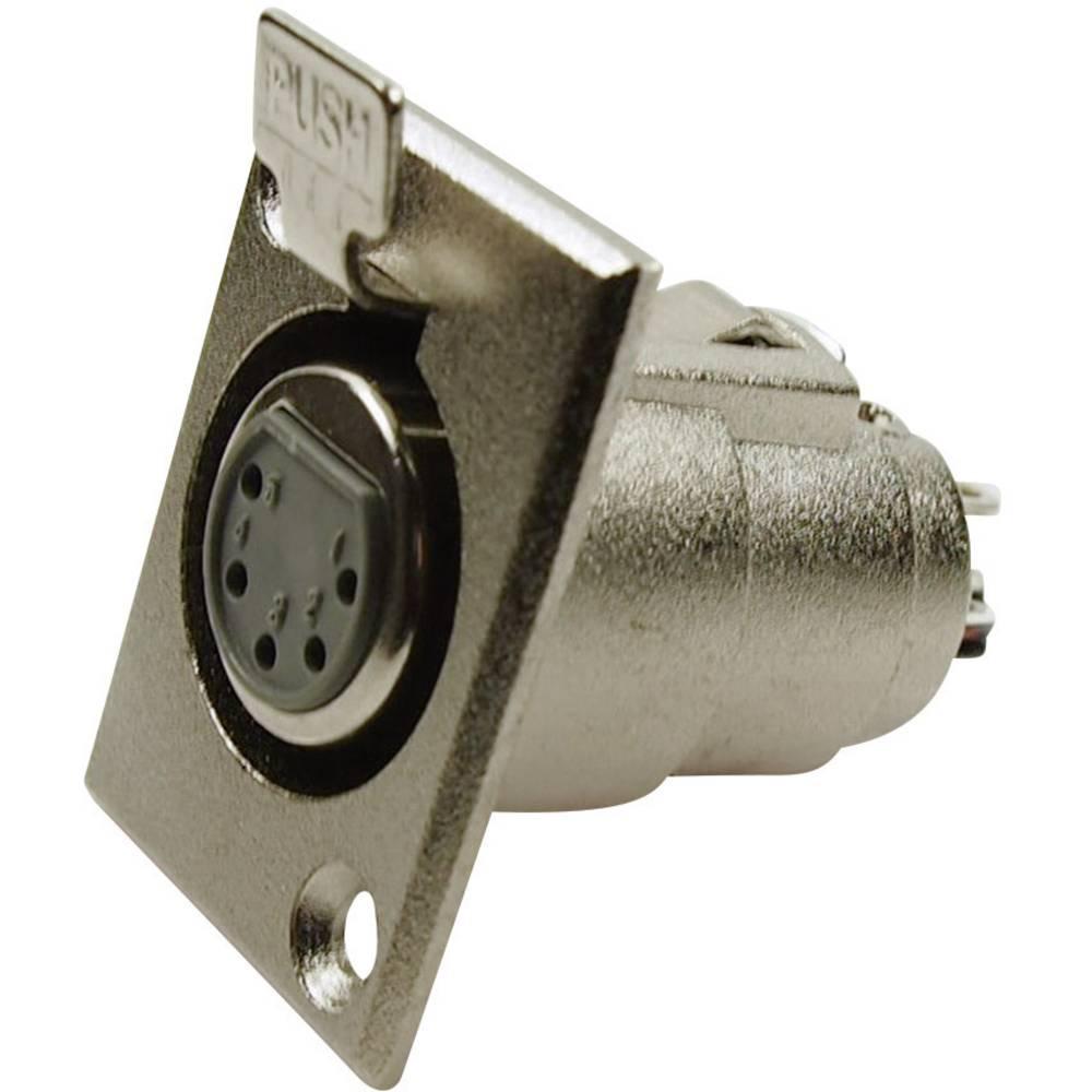 XLR-vtični konektor za prirobno vtičnico, ravni kontakti, število polov: 5 srebrne barve Cliff FC6170 1 kos