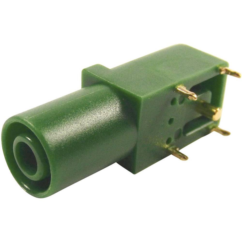 Sikkerheds-laboratorietilslutning Tilslutning, vinklet Cliff FCR7350G 4 mm Grøn 1 stk