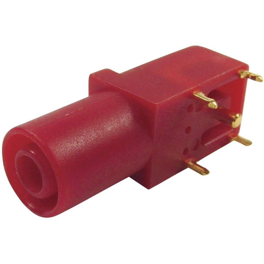 Sikkerheds-laboratorietilslutning Tilslutning, vinklet Cliff FCR7350R 4 mm Rød 1 stk