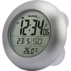 Radijsko vodena stenska ura Techno Line WT 3000 17.2 cm x 5.4 cm srebrna primerna za vlažne prostore