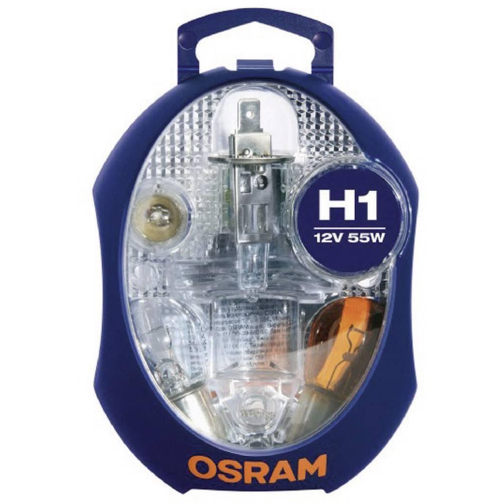 Avtomobilski komplet nadomestnih žarnic Osram H1 12 V 1 kos, P14.5s (D x Š x V) 115 x 90 x 60 mm