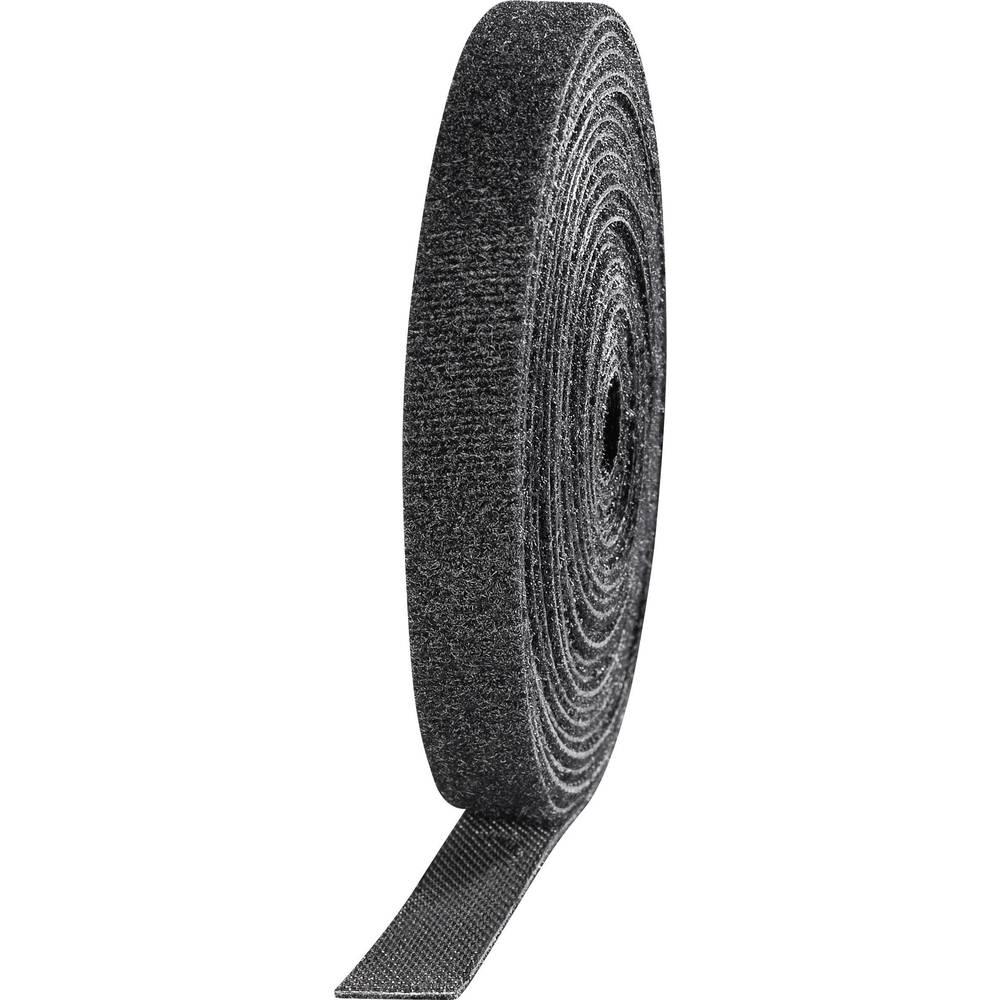 Sprijemalni trak (D x Š) 3000 mm x 10 mm črn TOOLCRAFT KL10X3000C 4 kolut