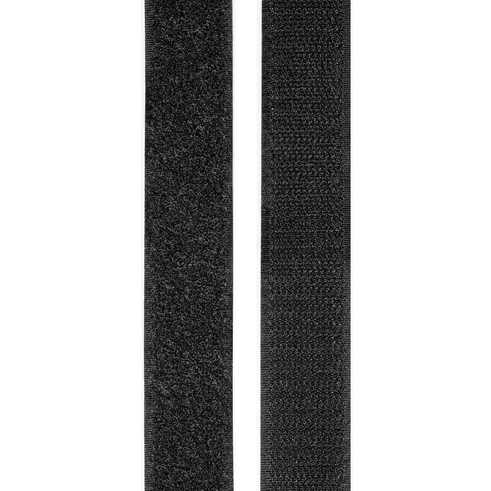 Samoljepljiva traka s čičkom TOOLCRAFT prianjajući i mekani dio (D x Š) 2 m x 25 mm crna KL25X2000C 1 par