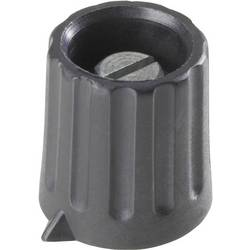 Vrtljivi gumb, črne barve (mat) (Ø x V) 34 mm x 18.5 mm TRU Components 1 kos