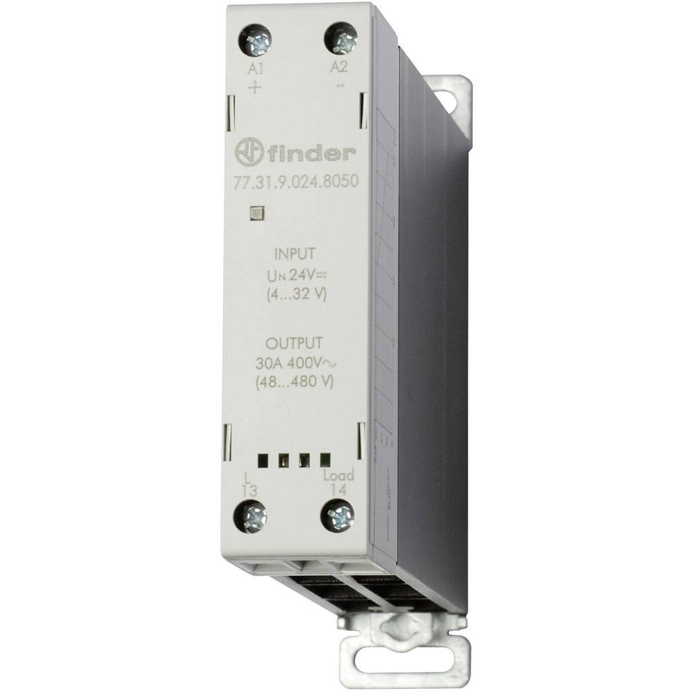 Halbleiterrelais (value.1292894) 1 stk Finder 77.31.9.024.8050 Last-Strøm (maks.): 30 A Koblingsspænding (max.): 480 V/AC Veksle