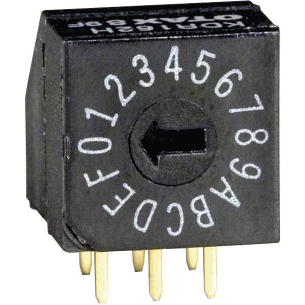 Kodirno stikalo , heksadecimalno 0-9/A-F položaj prestavljanja 16 OTAX KDR162H 45 kosov