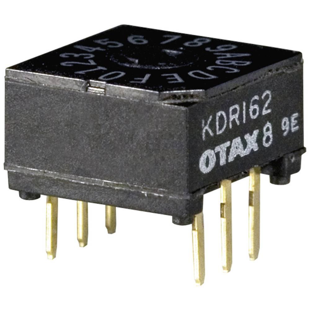 Kodirno stikalo , heksadecimalno 0-9/A-F položaj prestavljanja 16 OTAX KDR-162 45 kosov