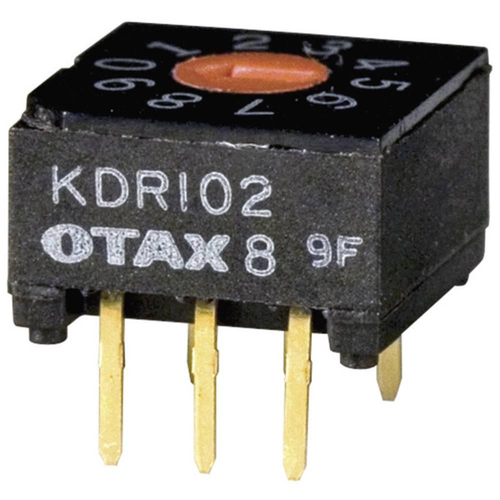 Kodirno stikalo BCD 0-9 položaj prestavljanja 10 OTAX KDR-102 45 kosov