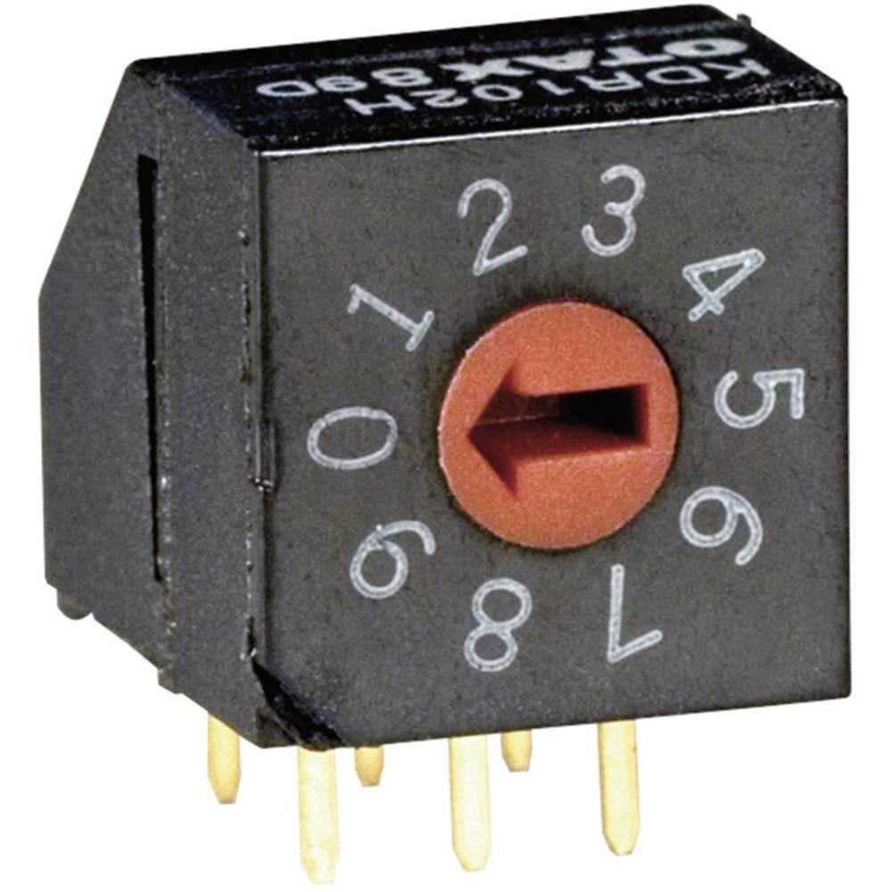 Kodirno stikalo BCD 0-9 položaj prestavljanja 10 OTAX KDR-102H 45 kosov