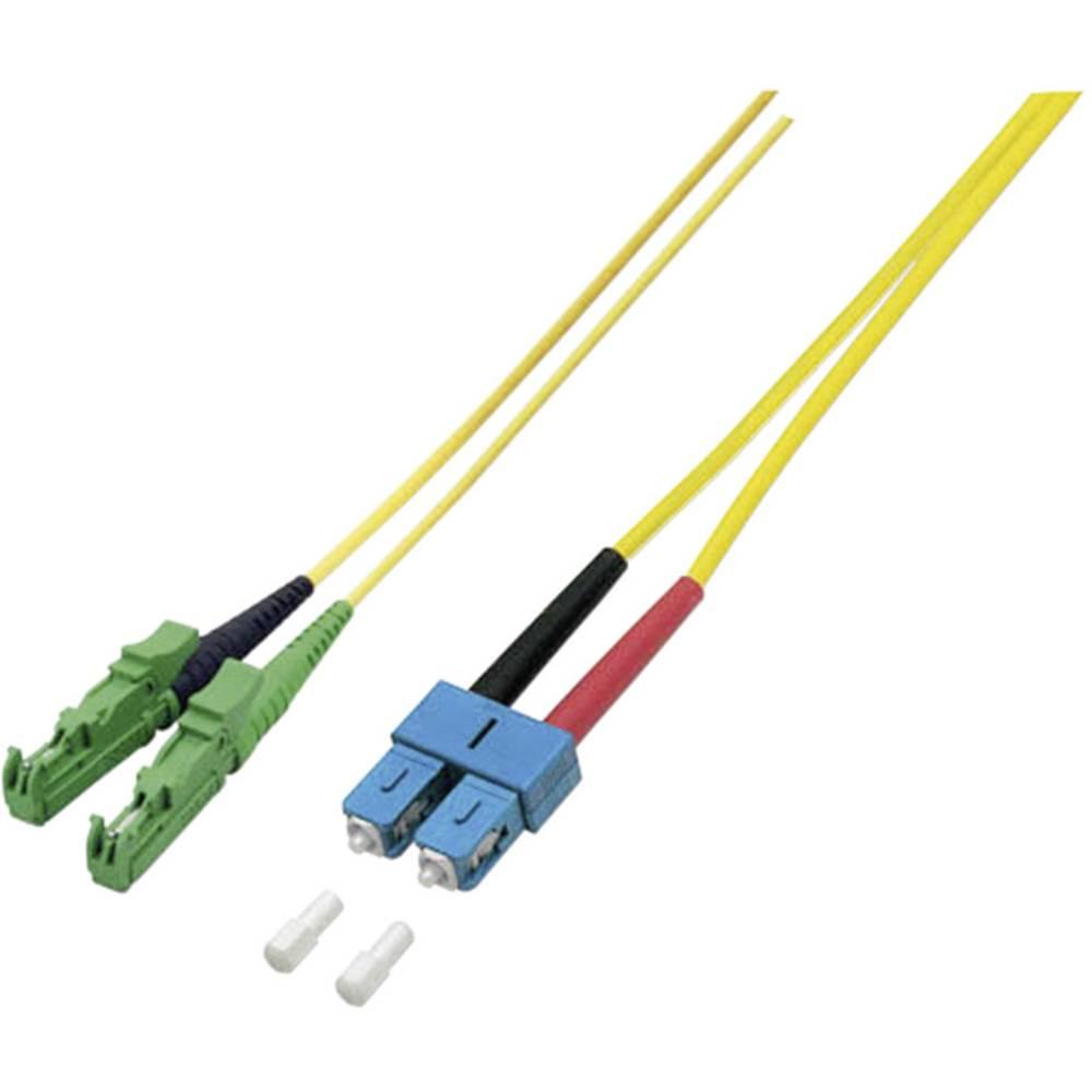 Optični priključni kabel [1x E2000®/APC 8° vtič - 1x SC vtič] 9/125µ Singlemode OS2 2 m EFB Elektronik