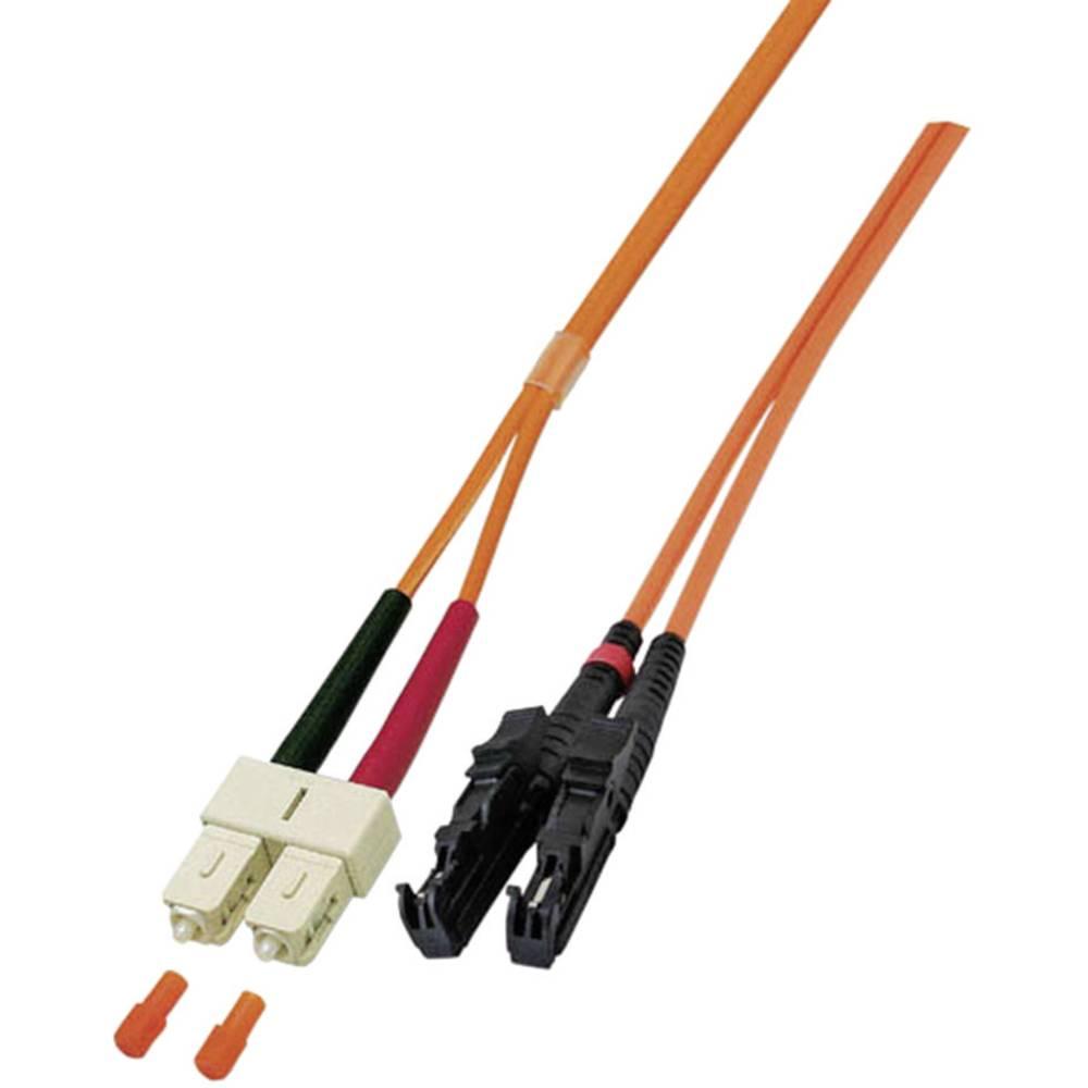 Optični priključni kabel [1x E2000® vtič - 1x SC vtič] 50/125µ Multimode OM3 5 m EFB Elektronik