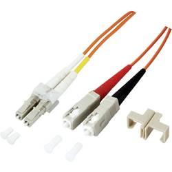 Glasfaser LWL priključni kabel [1x LC-vtič - 1x SC-vtič] 50/125µ večnačinski OM4 10 m EFB Elektronik