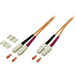 Glasfaser LWL priključni kabel [1x SC-vtič - 1x SC-vtič] 50/125µ večnačinski OM2 1 m EFB Elektronik