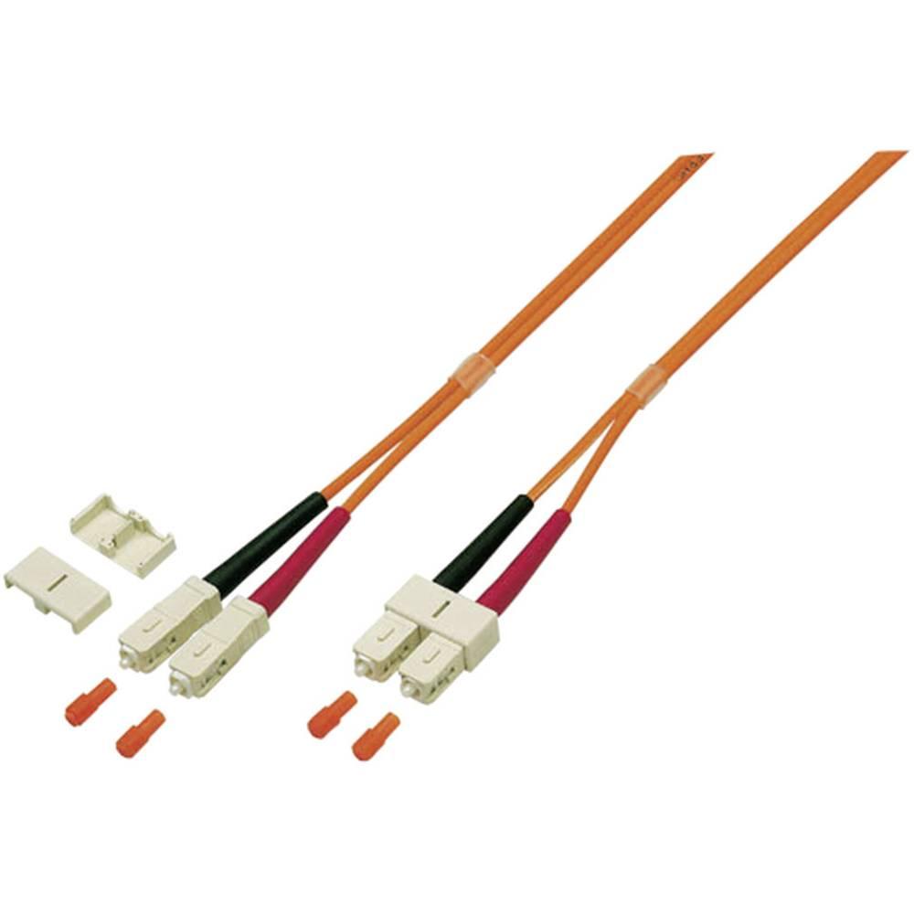Glasfaser LWL priključni kabel [1x SC-vtič - 1x SC-vtič] 50/125µ večnačinski OM3 2 m EFB Elektronik