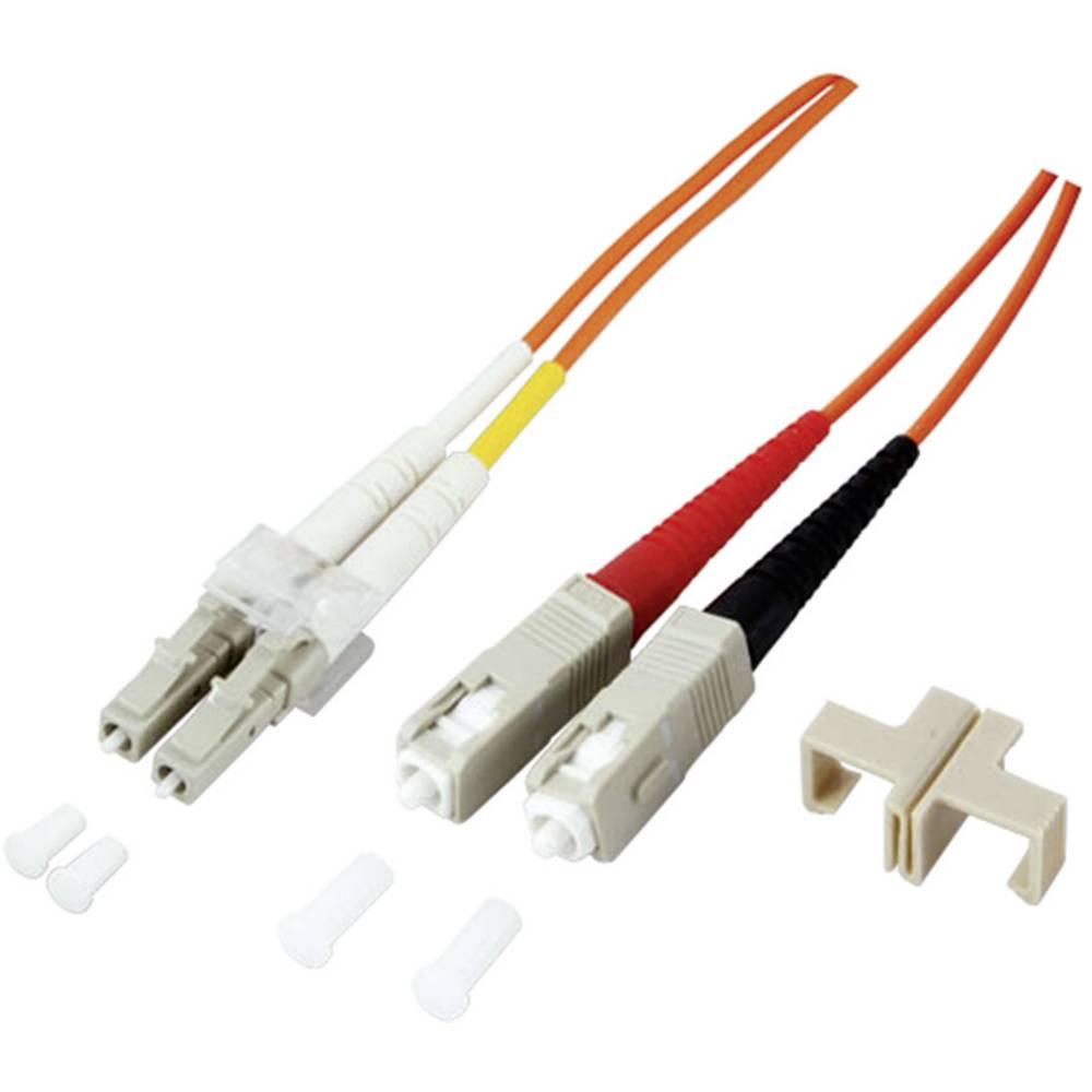 Glasfaser LWL priključni kabel [1x LC-vtič - 1x SC-vtič] 9/125µ enonačinski OS2 2 m EFB Elektronik