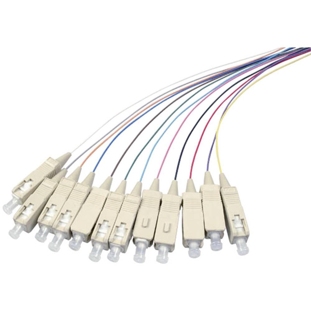 Optični priključni kabel [1x SC vtič - 1x odprti konec] 50/125µ Multimode OM3 2 m EFB Elektronik