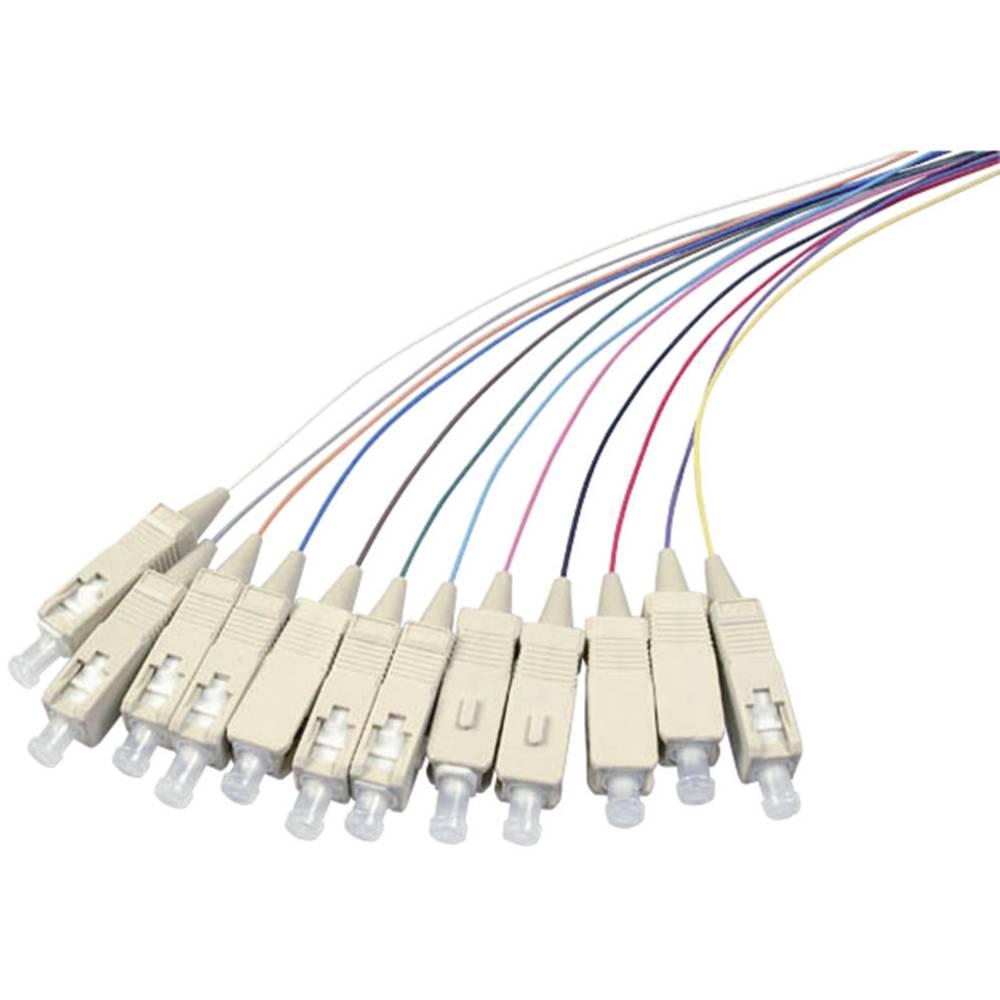 Optični priključni kabel [1x SC vtič - 1x odprti konec] 50/125µ Multimode OM4 2 m EFB Elektronik