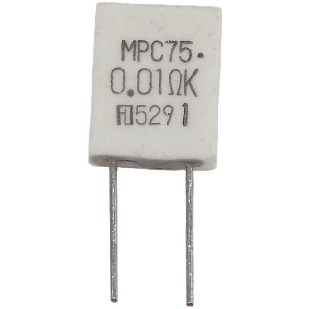 Metaloslojni otpornik 0.01 radijalno ožičen MPC76 2 W MPC76 2W 0,01 Ohm 10% 1 kom.