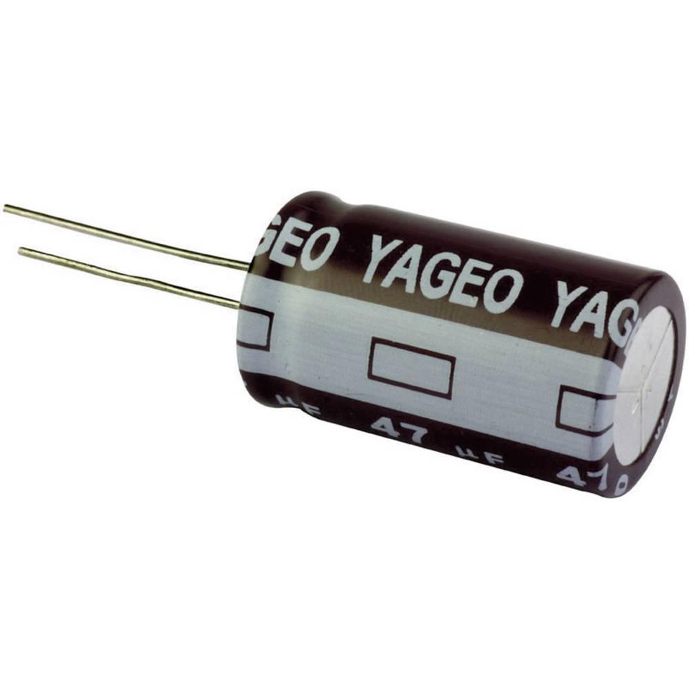 Yageo stand. elektrol. kondenz.SE025M3300B7F-1625 (OxV)16 mmx 25 mm raster 7, 5 mm 3300F 25V