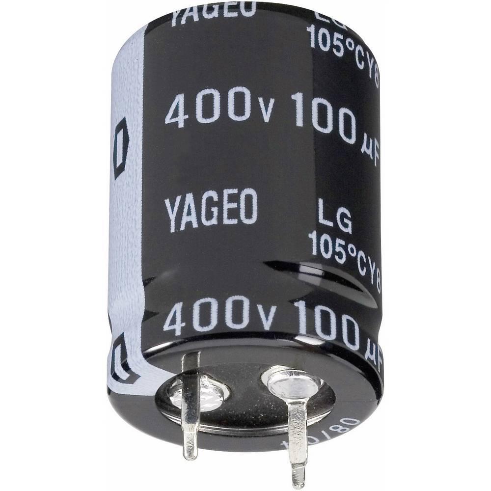 Yageo Zaskočni kondenzator LG400M0100BPF-2230 (OxV) 22 mm x 30 mm 100F 400 V