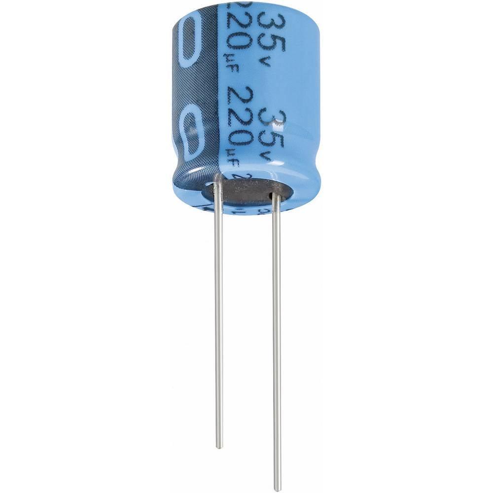 Jianghai Radijalni standardnielektrol. kondenzator (OxV) 16mm x 25mm raster 7.5mm 2200F ECR1EPT222MFF751625
