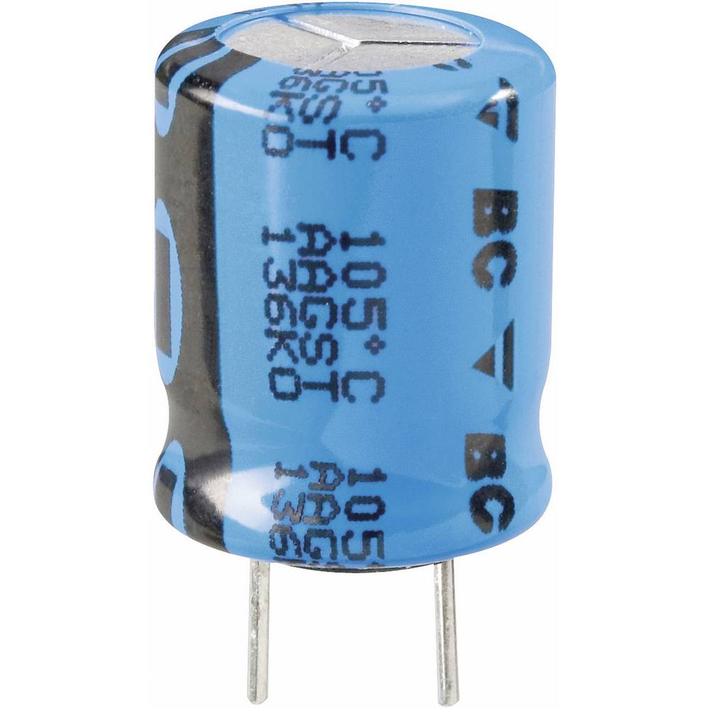 Vishay LOW-ESR Radijalni kondenzator 136 2222 136 69479 (OxV) 10 mm x 16 mm raster 5 mm 47F