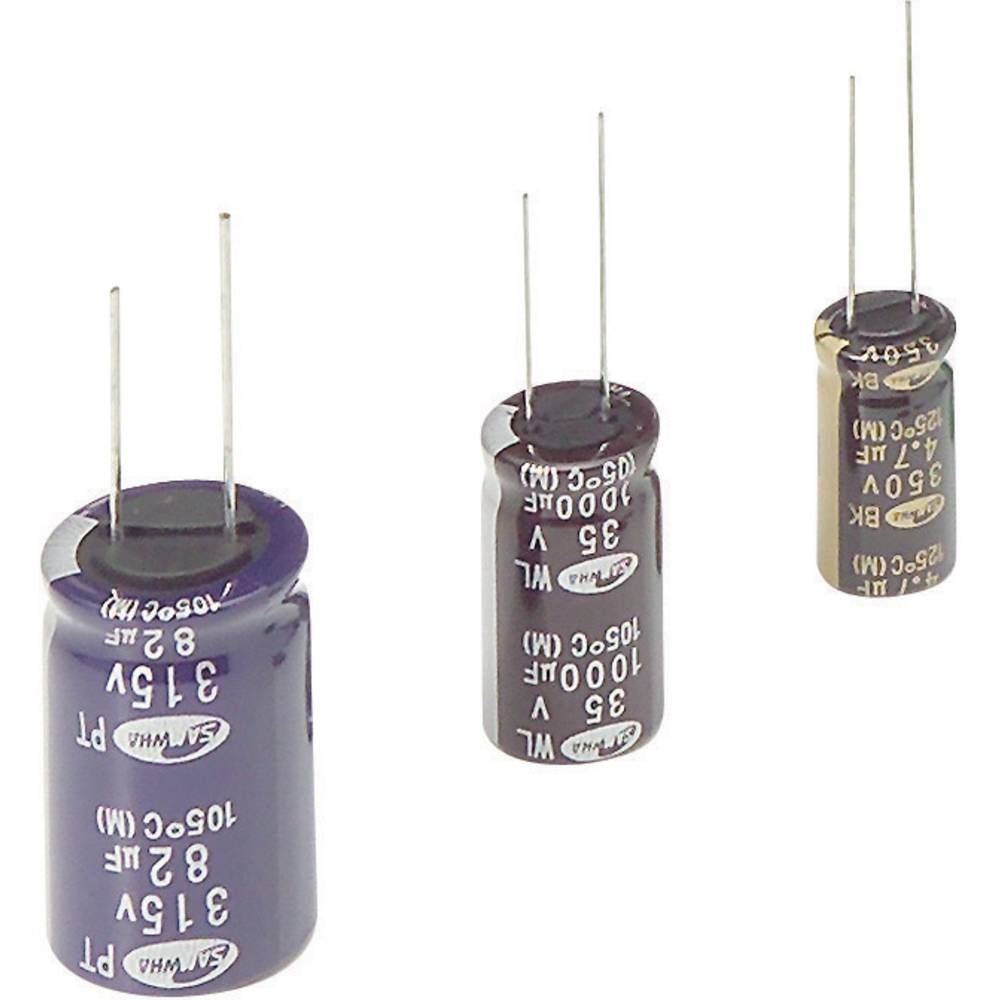 Elektrolitski kondenzator, radialno ožičen 2.5 mm 10 µF 63 V 20 % (premer x D) 5 mm x 11 mm Samwha WB1J106M05011PC 1 kos