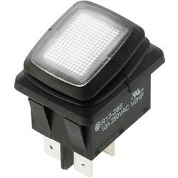 Preklopno stikalo 250 V/AC 10 A 2 x izklop/vklop SCI R13-285A8L1-01 zaskočno 1 kos