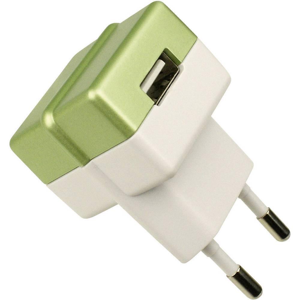 ECO vtič/omrežni del z USB izhodom zelen HNP05-ECO-GREEN-C HN Power