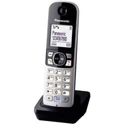 DECT telefonska slušalka Panasonic KX-TGA681EXB črne barve, srebrne barve