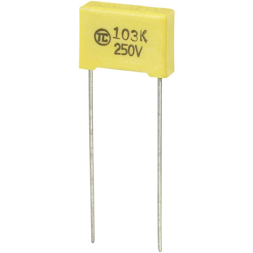 MKS-folijski kondenzator, radijalno ožičen 0.01 µF 250 V/DC 5 % 10 mm (D x Š x V) 13 x 4 x 9 mm 1 kos