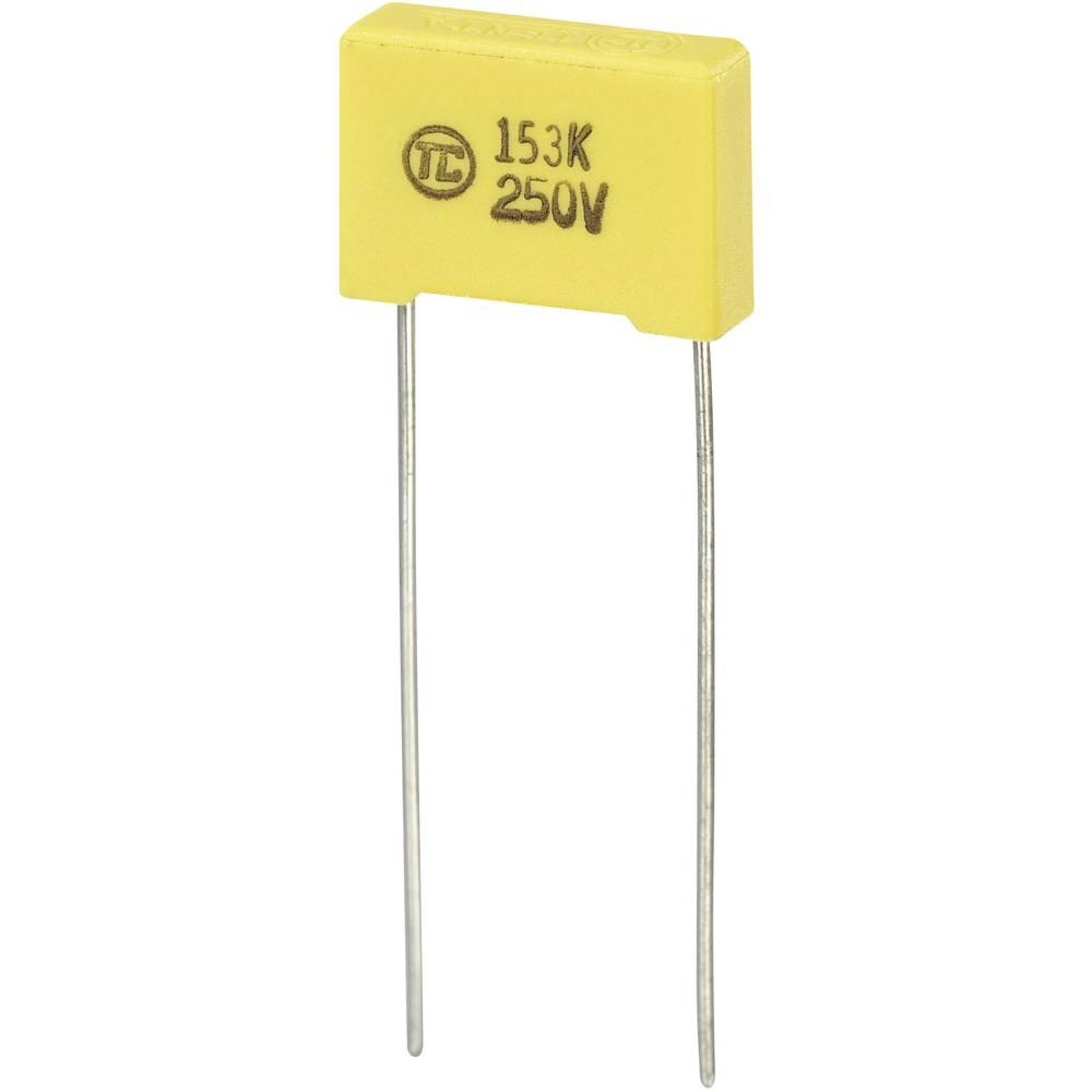 MKS-folijski kondenzator, radijalno ožičen 0.015 µF 250 V/DC 5 % 10 mm (D x Š x V) 13 x 4 x 9 mm 1 kos