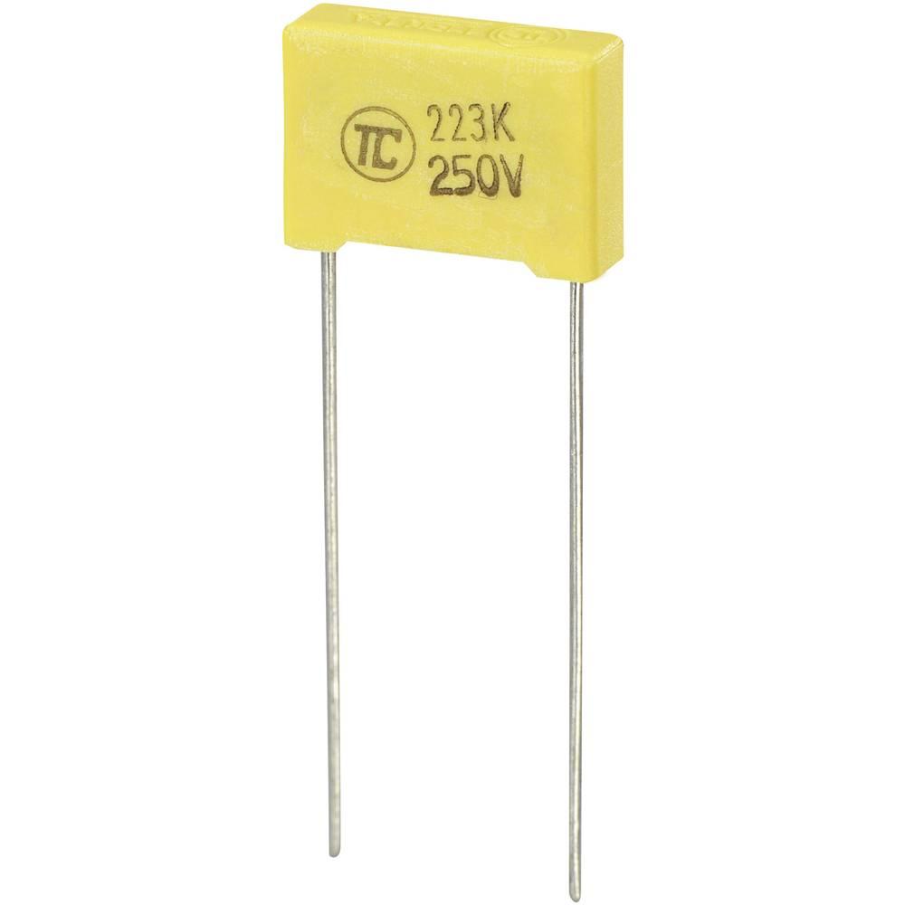 MKS-folijski kondenzator, radijalno ožičen 0.022 µF 250 V/DC 5 % 10 mm (D x Š x V) 13 x 4 x 9 mm 1 kos