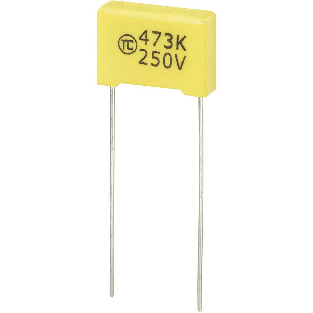 MKS-folijski kondenzator, radijalno ožičen 0.047 µF 250 V/DC 5 % 10 mm (D x Š x V) 13 x 4 x 9 mm 1 kos