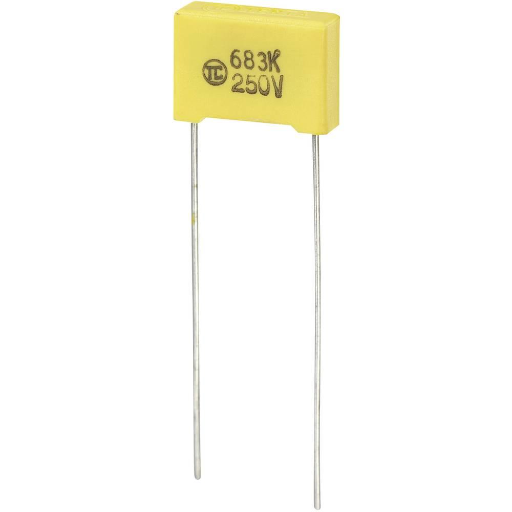MKS-folijski kondenzator, radijalno ožičen 0.068 µF 250 V/DC 5 % 10 mm (D x Š x V) 13 x 4 x 9 mm 1 kos