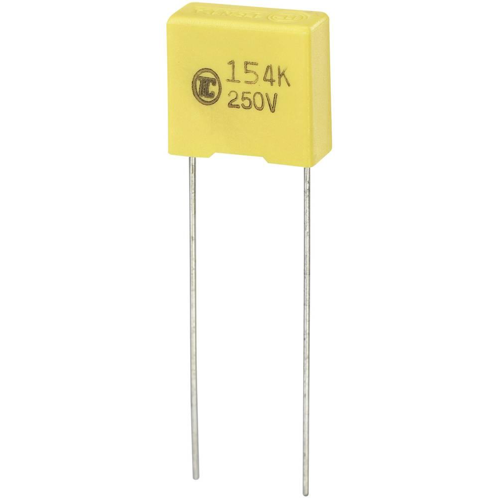 MKS-folijski kondenzator, radijalno ožičen 0.15 µF 250 V/DC 5 % 10 mm (D x Š x V) 13 x 6 x 12 mm 1 kos