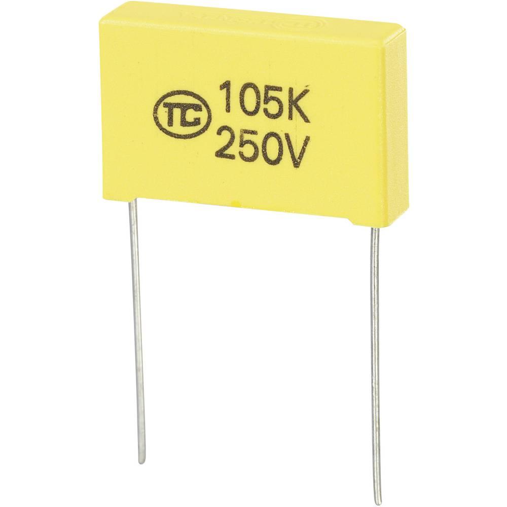 MKS-folijski kondenzator, radijalno ožičen 1 µF 250 V/DC 5 % 22.5 mm (D x Š x V) 26.5 x 6 x 15 mm 1 kos