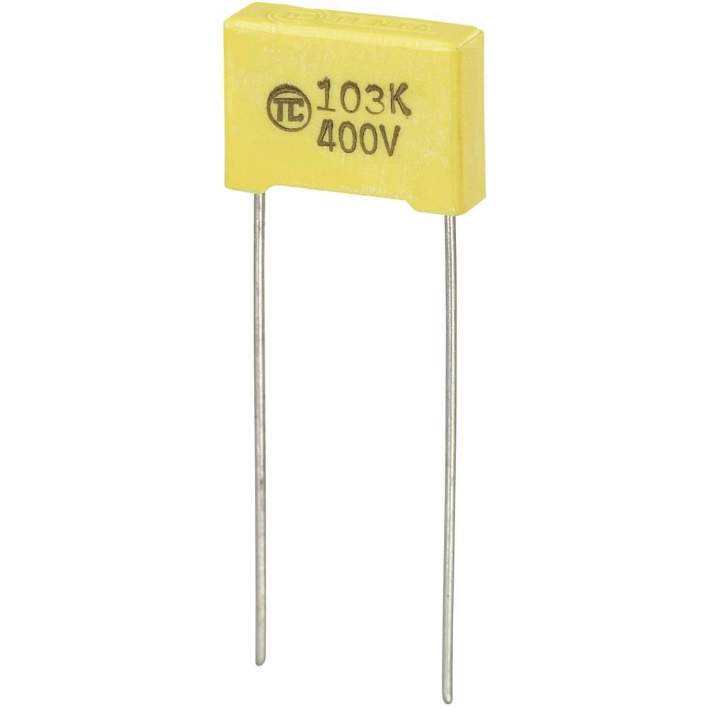 MKS-folijski kondenzator, radijalno ožičen 0.01 µF 400 V/DC 5 % 10 mm (D x Š x V) 13 x 4 x 9 mm 1 kos