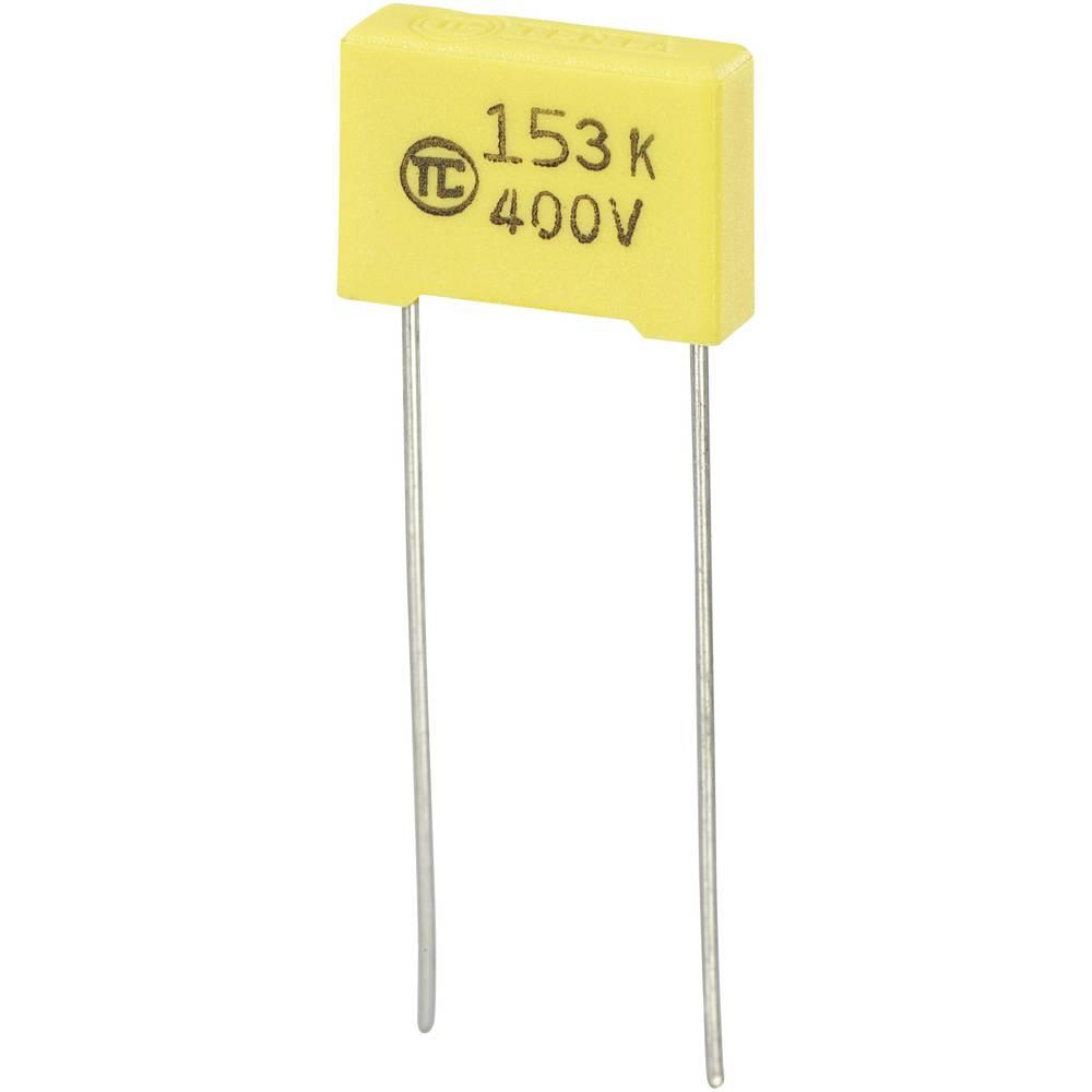 MKS-folijski kondenzator, radijalno ožičen 0.015 µF 400 V/DC 5 % 10 mm (D x Š x V) 13 x 4 x 9 mm 1 kos