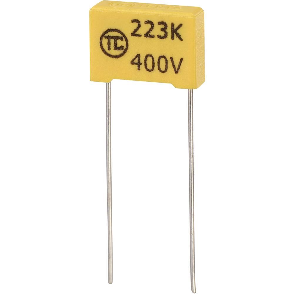 MKS-folijski kondenzator, radijalno ožičen 0.022 µF 400 V/DC 5 % 10 mm (D x Š x V) 13 x 4 x 9 mm 1 kos