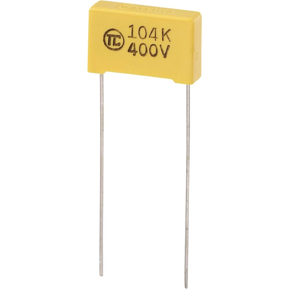 MKS-folijski kondenzator, radijalno ožičen 0.1 µF 400 V/DC 5 % 15 mm (D x Š x V) 18 x 5 x 11 mm 1 kos