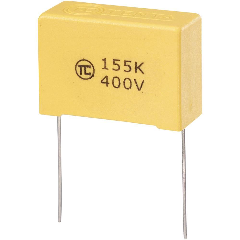 MKS-folijski kondenzator, radijalno ožičen 1.5 µF 400 V/DC 5 % 27.5 mm (D x Š x V) 32 x 13 x 22 mm 1 kos